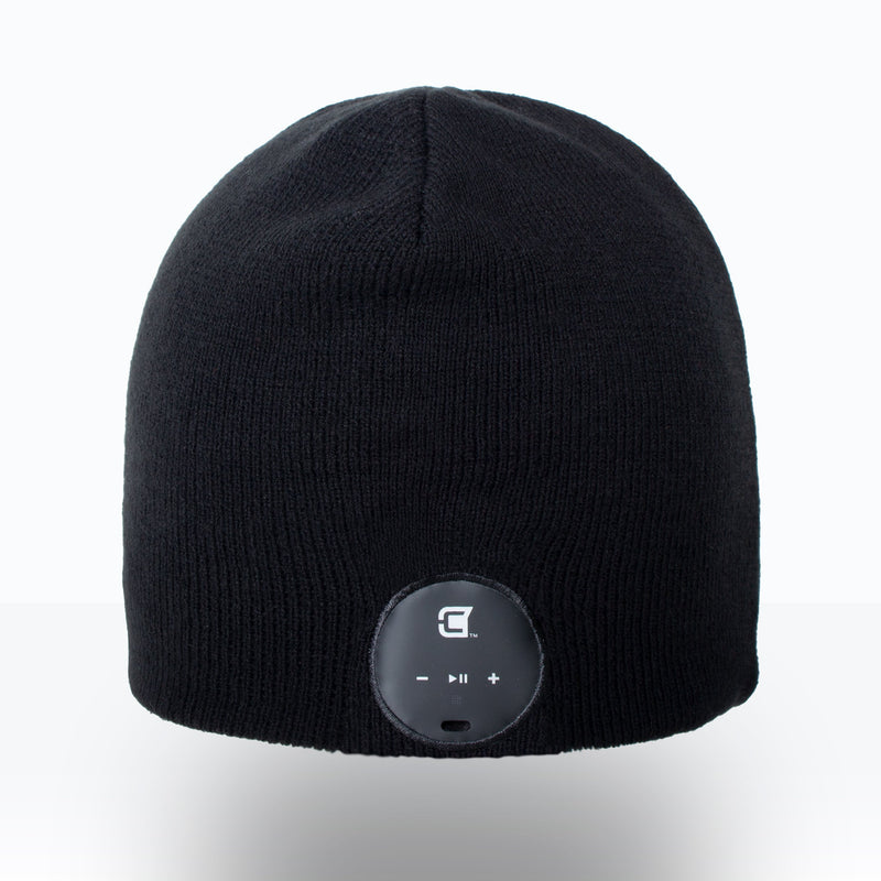 Blu Toque Bluetooth Beanie Slim Ribbed - Charcoal Black