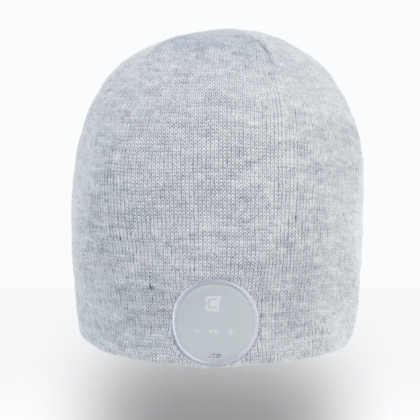 Blu Toque Bluetooth Beanie Slim Ribbed - Ash Grey