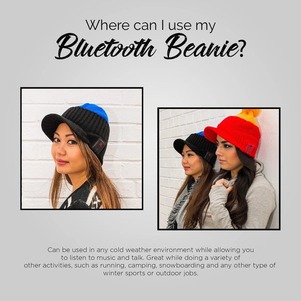 Blu Toque Bluetooth Beanie Warm Hat - Bittersweet