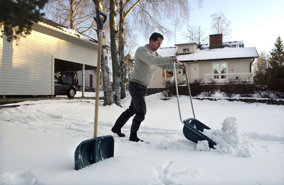 Masi Polar Plus Power Snow scoop pusher shovel made Finland a, no lifting save your back