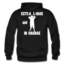Load image into Gallery viewer, Large and In Charge Hoodie (up to 5xl) - black