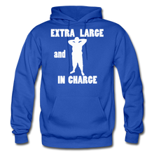 Load image into Gallery viewer, Large and In Charge Hoodie (up to 5xl) - royal blue
