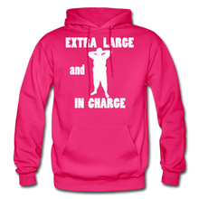 Load image into Gallery viewer, Large and In Charge Hoodie (up to 5xl) - fuchsia