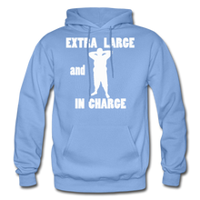 Load image into Gallery viewer, Large and In Charge Hoodie (up to 5xl) - carolina blue
