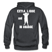 Load image into Gallery viewer, Large and In Charge Hoodie (up to 5xl) - charcoal gray