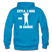 Load image into Gallery viewer, Large and In Charge Hoodie (up to 5xl) - turquoise