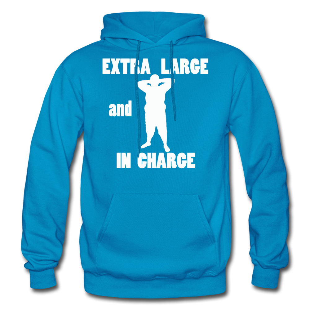 Large and In Charge Hoodie (up to 5xl) - turquoise