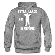 Load image into Gallery viewer, Large and In Charge Hoodie (up to 5xl) - graphite heather