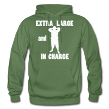 Load image into Gallery viewer, Large and In Charge Hoodie (up to 5xl) - military green