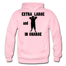 Load image into Gallery viewer, Extra Large and In Charge Hoodie Black Image - light pink