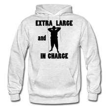Load image into Gallery viewer, Extra Large and In Charge Hoodie Black Image - light heather gray