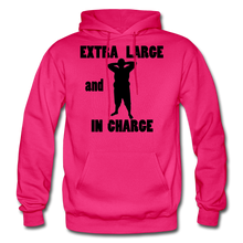 Load image into Gallery viewer, Extra Large and In Charge Hoodie Black Image - fuchsia