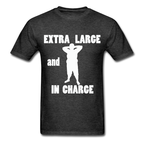 Large and In Charge Tee White Image (Up to 6xl) - heather black