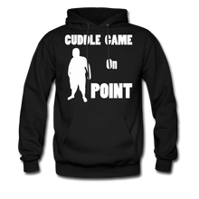 Load image into Gallery viewer, Cuddle Game Hoodie White Image (Up to 5xl) - black