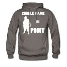 Load image into Gallery viewer, Cuddle Game Hoodie White Image (Up to 5xl) - asphalt gray