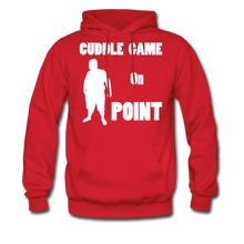 Load image into Gallery viewer, Cuddle Game Hoodie White Image (Up to 5xl) - red