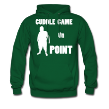 Load image into Gallery viewer, Cuddle Game Hoodie White Image (Up to 5xl) - forest green