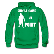 Load image into Gallery viewer, Cuddle Game Hoodie White Image (Up to 5xl) - kelly green