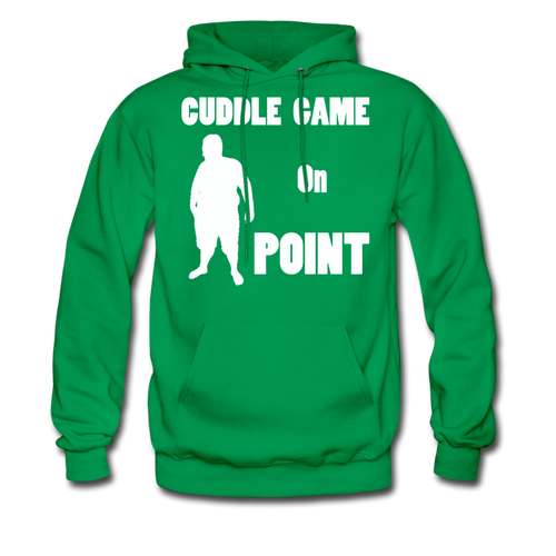 Cuddle Game Hoodie White Image (Up to 5xl) - kelly green