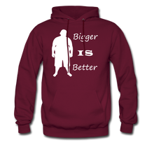 Load image into Gallery viewer, Bigger IS Better Hoodie (up to 5xl) - burgundy