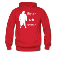 Load image into Gallery viewer, Bigger IS Better Hoodie (up to 5xl) - red