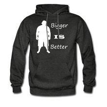 Load image into Gallery viewer, Bigger IS Better Hoodie (up to 5xl) - charcoal gray