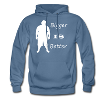 Load image into Gallery viewer, Bigger IS Better Hoodie (up to 5xl) - denim blue