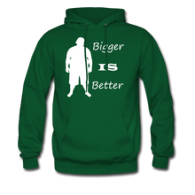 Load image into Gallery viewer, Bigger IS Better Hoodie (up to 5xl) - forest green