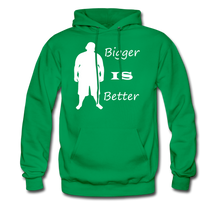 Load image into Gallery viewer, Bigger IS Better Hoodie (up to 5xl) - kelly green