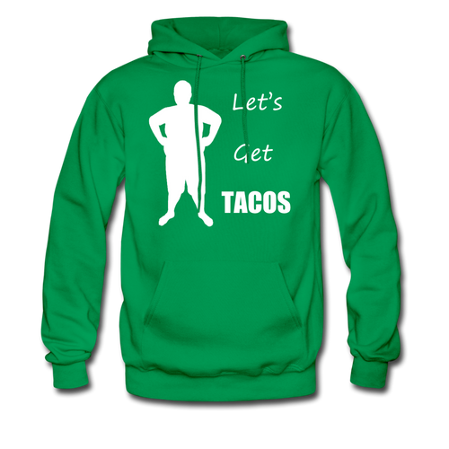Let's Get Tacos Hoodie (Up to 5xl) - kelly green