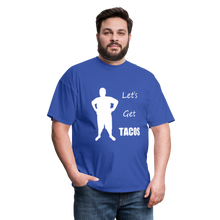 Load image into Gallery viewer, Let's Get Tacos Tee White Image (Up to 6xl) - royal blue
