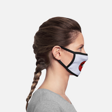 Load image into Gallery viewer, Bit Lip Facemask - white/black