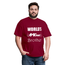 Load image into Gallery viewer, World's OK-est Brother (Up to 6xl) - burgundy