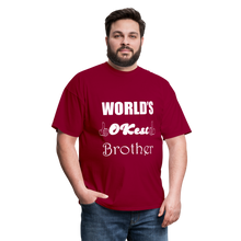 Load image into Gallery viewer, World's OK-est Brother (Up to 6xl) - dark red
