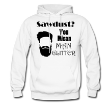 Load image into Gallery viewer, Man Glitter Hoodie Dark Image (Up to 5xl) - white