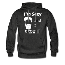 Load image into Gallery viewer, Grow It Hoodie White Image (Up to 5xl) - charcoal gray