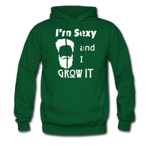 Load image into Gallery viewer, Grow It Hoodie White Image (Up to 5xl) - forest green