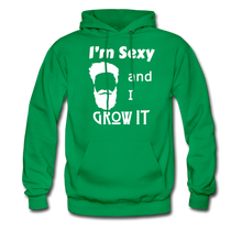 Load image into Gallery viewer, Grow It Hoodie White Image (Up to 5xl) - kelly green