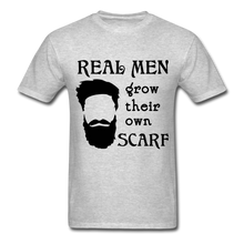 Load image into Gallery viewer, Scarf Beard Tee (Up to 6xl) - heather gray