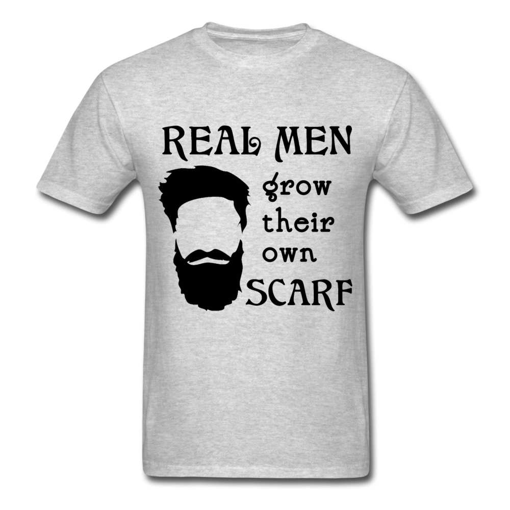 Scarf Beard Tee (Up to 6xl) - heather gray
