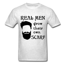 Load image into Gallery viewer, Scarf Beard Tee (Up to 6xl) - light heather gray