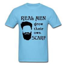 Load image into Gallery viewer, Scarf Beard Tee (Up to 6xl) - aquatic blue