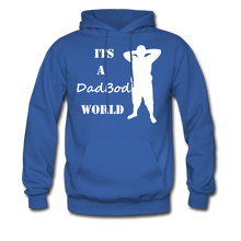 Load image into Gallery viewer, Dadbod World Hoodie (Up to 5xl) - royal blue