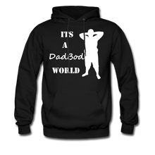 Load image into Gallery viewer, Dadbod World Hoodie (Up to 5xl) - black