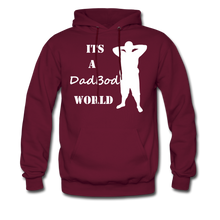 Load image into Gallery viewer, Dadbod World Hoodie (Up to 5xl) - burgundy