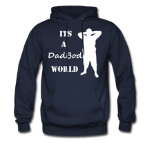Load image into Gallery viewer, Dadbod World Hoodie (Up to 5xl) - navy