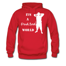 Load image into Gallery viewer, Dadbod World Hoodie (Up to 5xl) - red