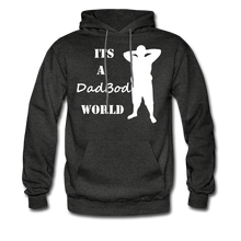 Load image into Gallery viewer, Dadbod World Hoodie (Up to 5xl) - charcoal gray