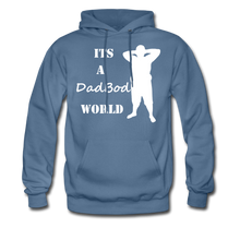 Load image into Gallery viewer, Dadbod World Hoodie (Up to 5xl) - denim blue