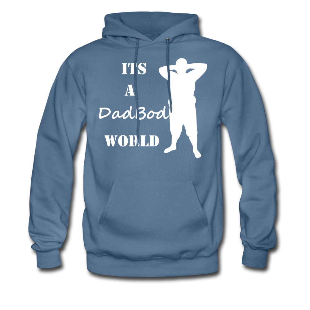Dadbod World Hoodie (Up to 5xl) - denim blue